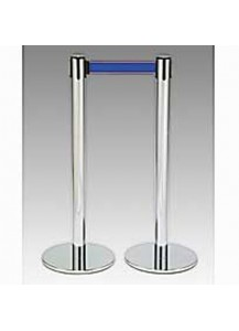 Stanchions with 6 ft blue strap