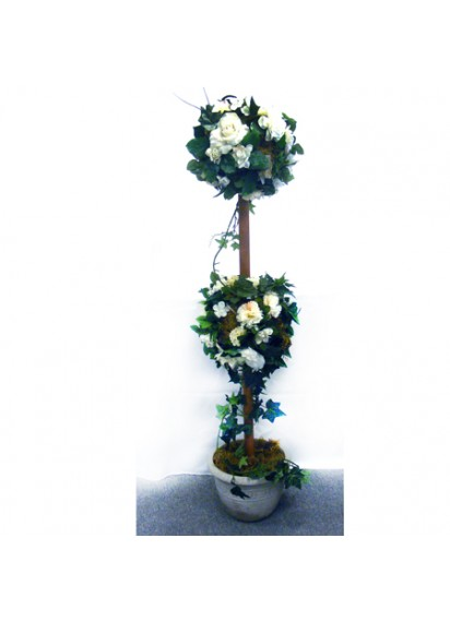 Topiary Trees Decorated (pair)