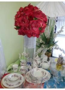 24inch by 4inch wide tallglass vase